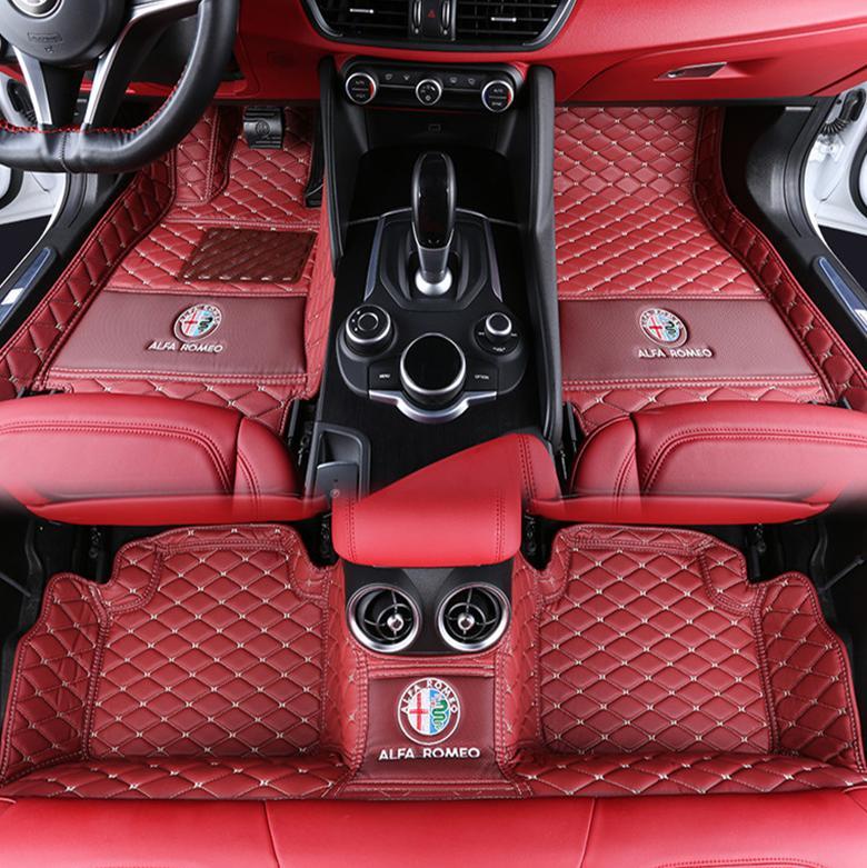 2019 For To Alfa Romeo Stelvio 2017 2018 PU Interior Mat