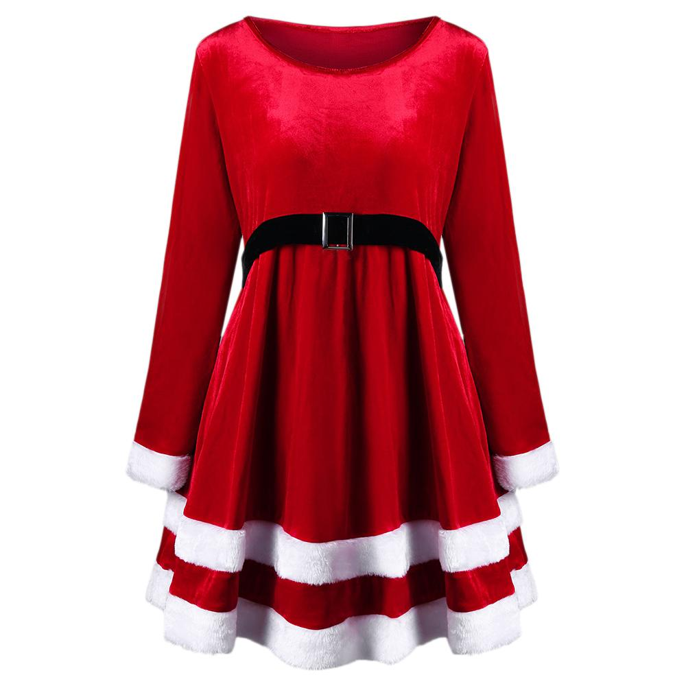 fab89554c70 Wipalo Christmas Plus Size 5XL Women Dress Elegant Velvet Party Dress Sexy Long  Sleeves Belts Vintage Feminino Vestidos Boutique Dresses Black And White ...