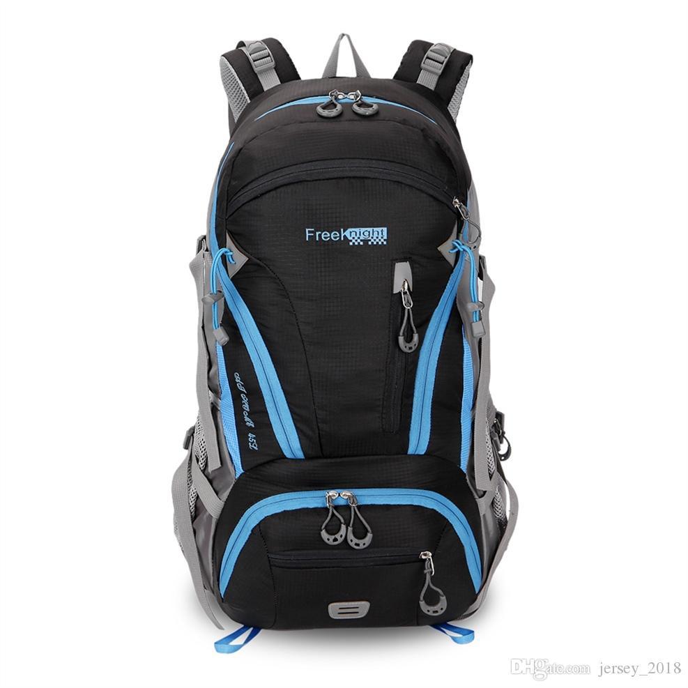 73436b98ce6c 2019 Rucksack Men Outdoor Camping Trekking Backpack 45L Purple Rucksack  Hiking Backpacks Waterproof Sports Bag Backpacks Climbing Bag  300099 From  ...