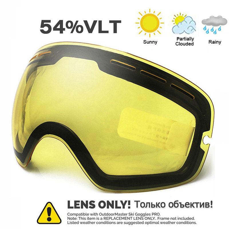 Ski Goggles Winter Snow Sports Snowboard Goggles with Anti-fog for Men  Women Youth Snowmobile Skiing Skating mask ONLY LENS