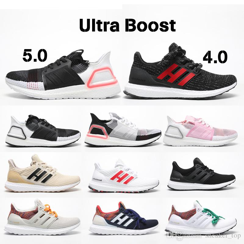 size 40 e169f 00894 Ultra Boost 5.0 4.0 Running Shoes for Mens Women Oreo REFRACT True Pink  Mens Trainer Primeknit UltraBoost ub 19 Sports Sneakers