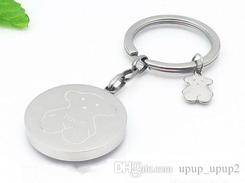 ce20be8f86157 Compre Moda Simples Urso De Metal Chaveiro Casal
