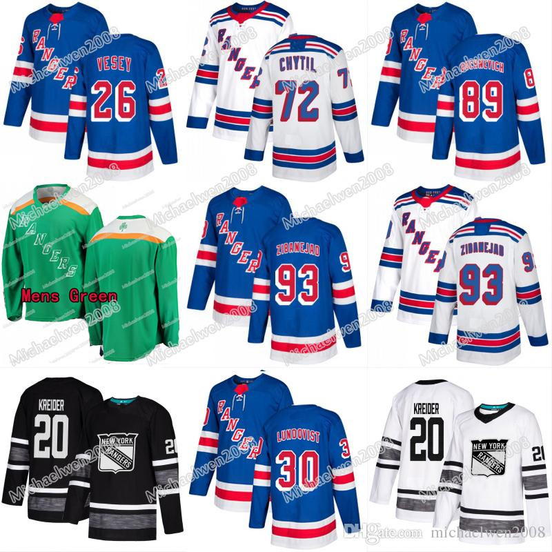 factory price ba96e 46fd8 New York Ranger Jersey 2019 ALL STAR Rangers Mika Zibanejad Chris Kreider  Jimmy Vesey Henrik Lundqvist Pavel Buchnevich Ryan Strome