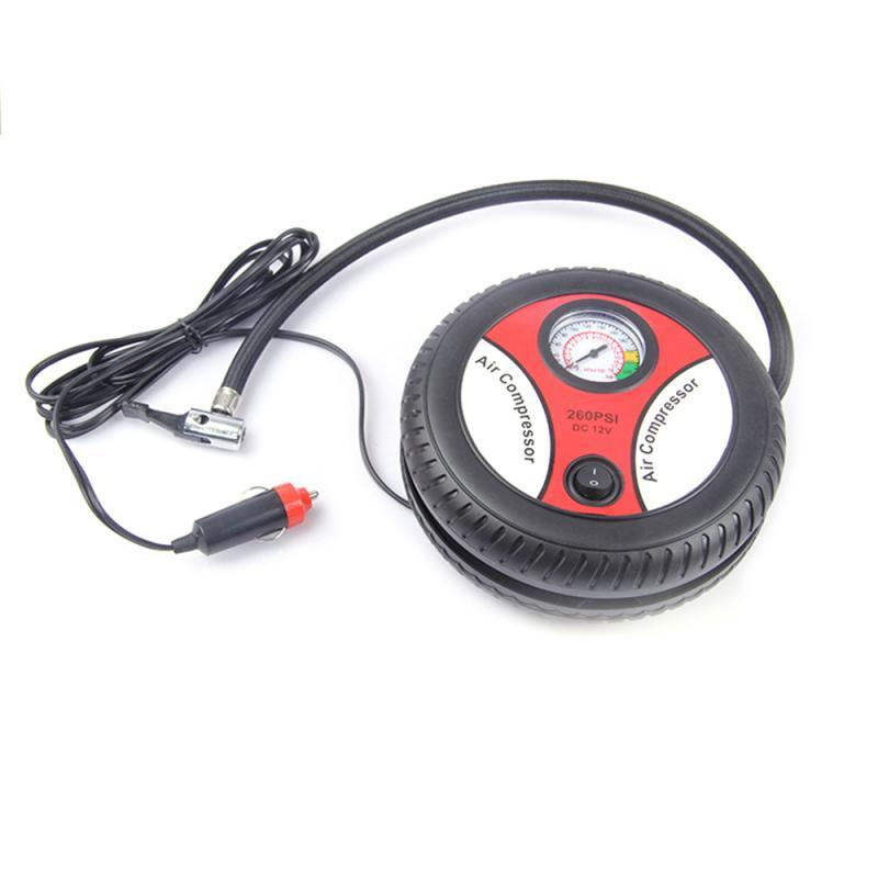 12V Portable Air Compressor Wheel 260psi Tyre Inflator Pump Car Auxiliary Tools Tire inflation pump Air Compressor