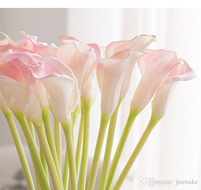Prächtig Großhandel Blumen Dekorative Blume Künstliche Mini Calla Lily &NE_37