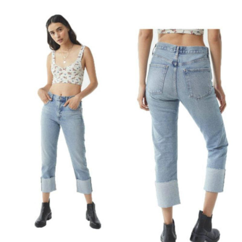 da72dc664e 2019 Hot New Cropped Jeans For Women Fashion Edge Straight Denim Pants  Casual Denim Jeans From Wuarray, $16.08 | DHgate.Com