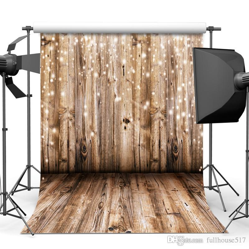 3m X 3m Wooden Backdrop Vinyl Photography Background Wood Floor