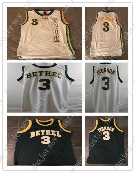 2019 Cheap Custom SCHOOL YARD LEGENDS ALLEN IVERSON BETHEL HIGH SCHOOL  JERSEY Stitched Customize Any Number Name MEN WOMEN YOUTH XS 5XL From ... 521f59b9d9
