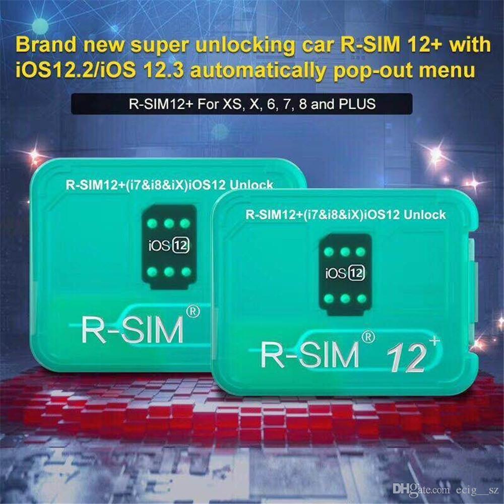 2019 newest unlock iccid card rsim12+ for iphone8 7 6 iphone xs max xr x  iOS 12 x-7 x 4G unlock VS RSIM 14