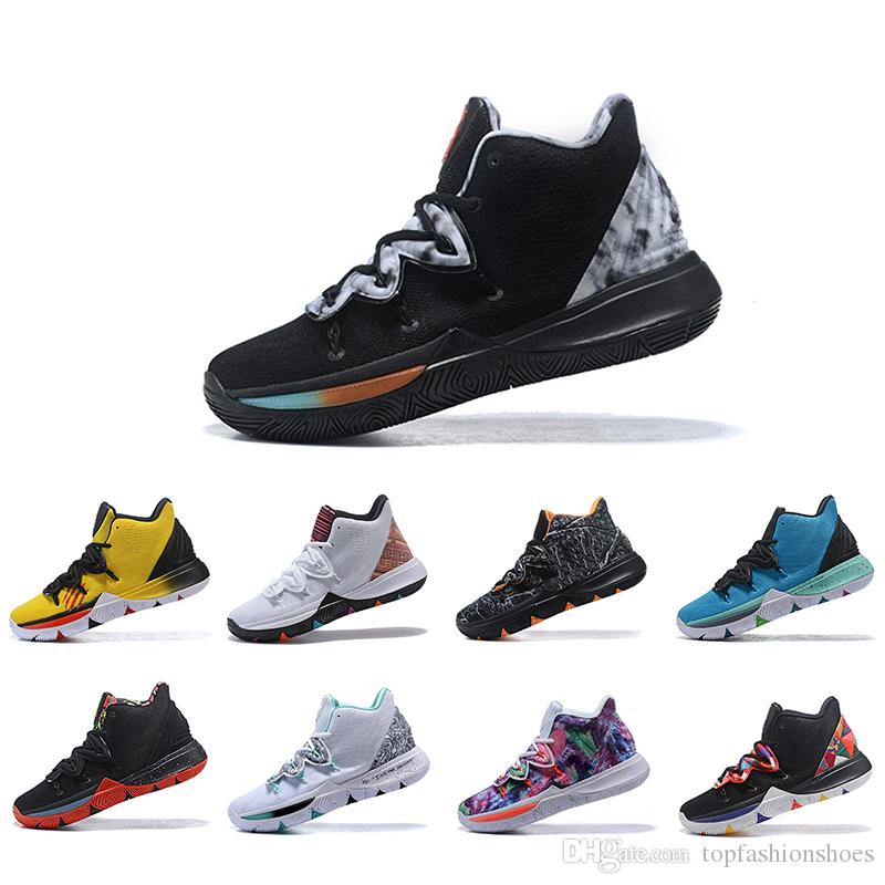 New Arrival Irving Limited 5 Basketball Shoes For Men Black Magic Kyrie 5s Chaussures de basket ball Mens Trainers Designer Sneakers 7-12