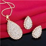 H: HYDE design de Moda jóias de Ouro da Cor das Mulheres / doce da menina CZ Cadeia Colar + Brincos Conjuntos de Jóias de Casamento Presentes