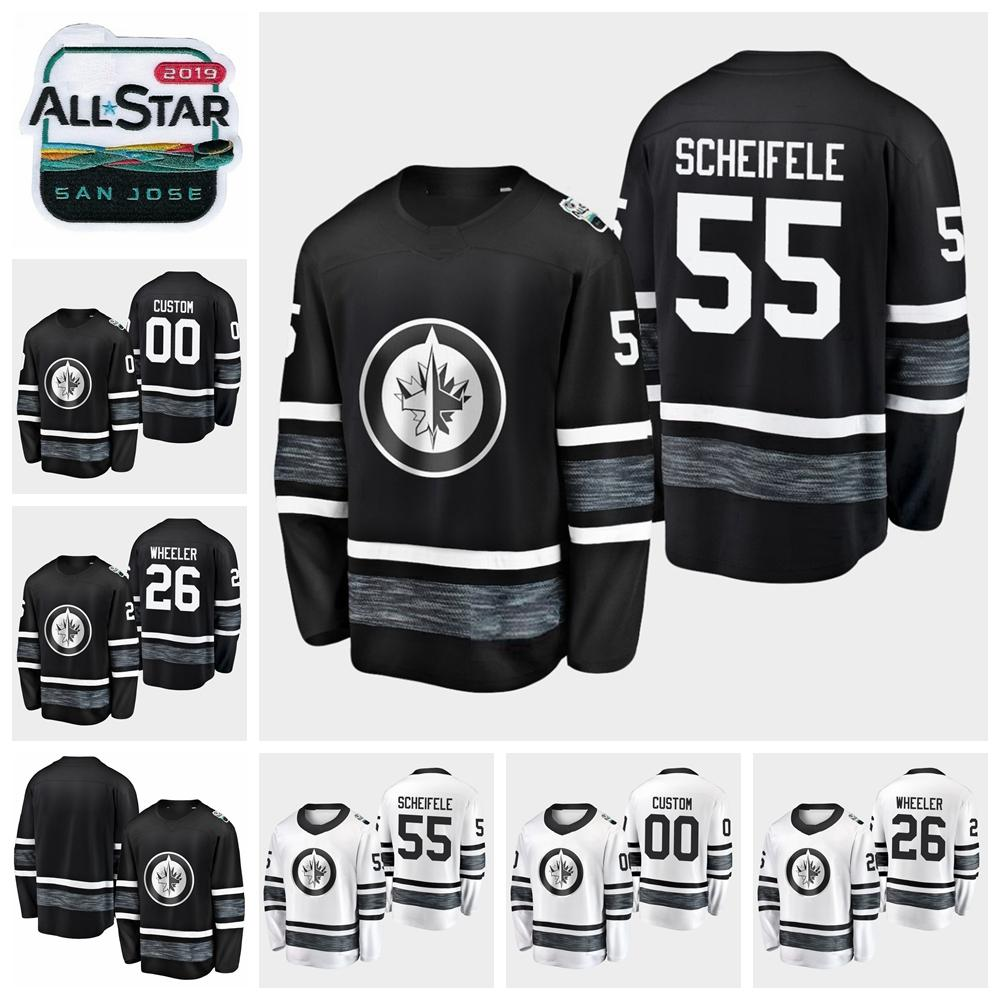 2019 White 26 Scheifele All Hockey Star Wheeler Men 29 Black Laine Winnipeg Youth Mark Customize Jets 55 Blake Game Patrik Jerseys Women