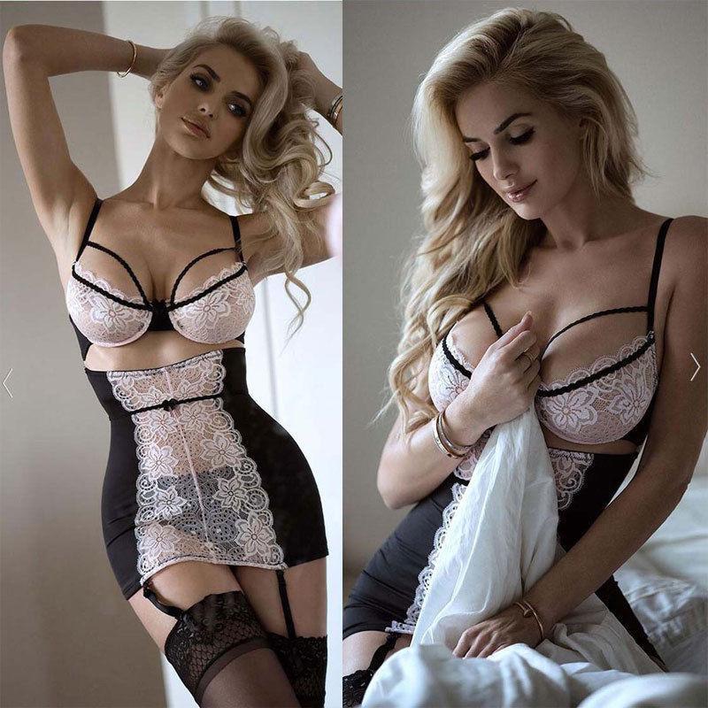 4d82e9da74563 2019 XXXL Women Lingerie G String Lace Flower Lingerie Sexy Hot Erotic  Babydoll Sleepwear Robe Sexy Underwear Nightwear Plus Size From Windomfac,  ...