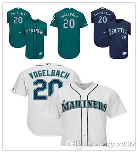 quality design f17e7 d2f38 Men's Mariners 20 Dan Vogelbach Majestic Aqua Alternate Authentic  Collection Flex Base Player Seattle women kids Jersey