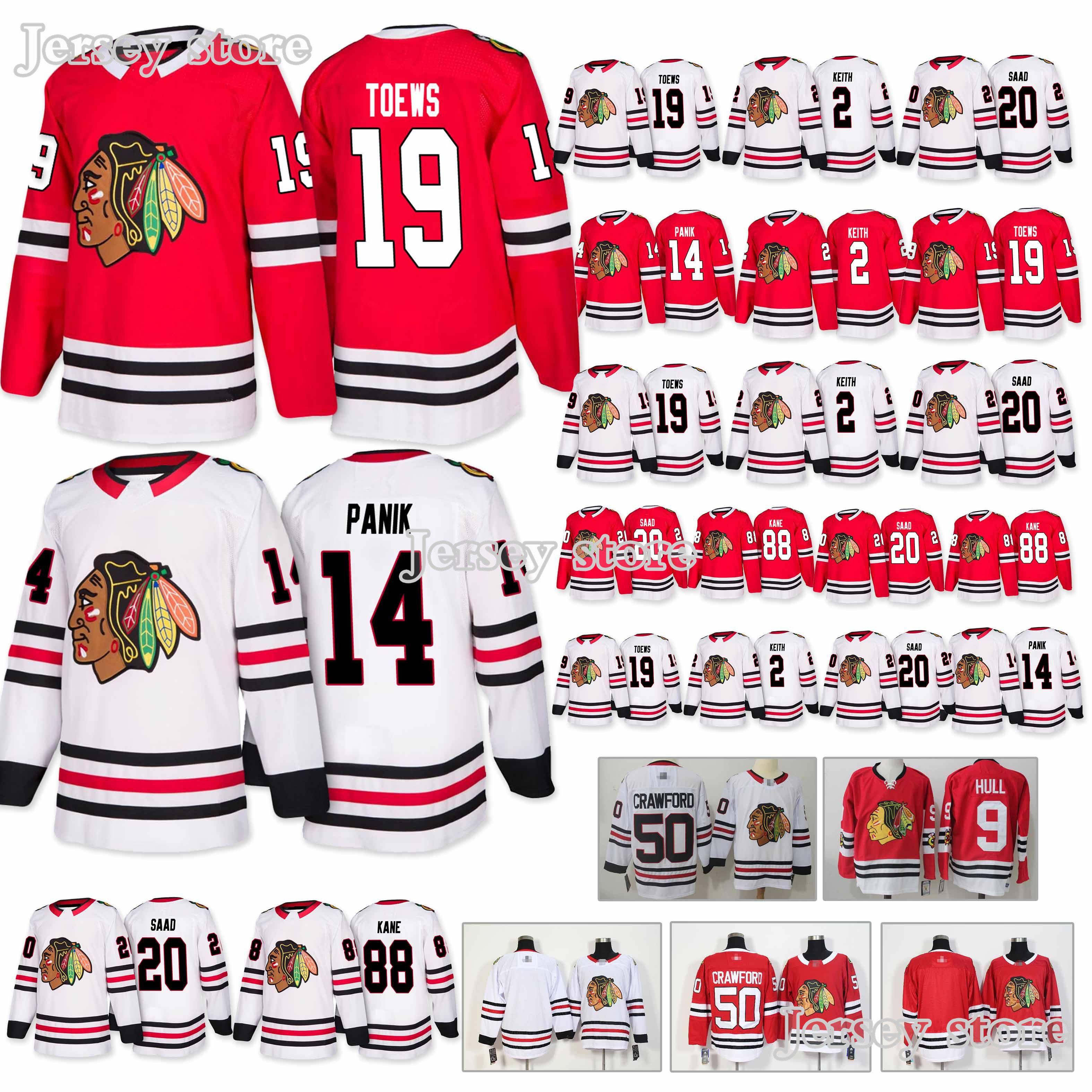 new concept 87e91 20570 Chicago Blackhawks jerseys 14 Richard Panik 19 Jonathan Toews 2 Duncan  Keith new Hockey Jerseys 2019