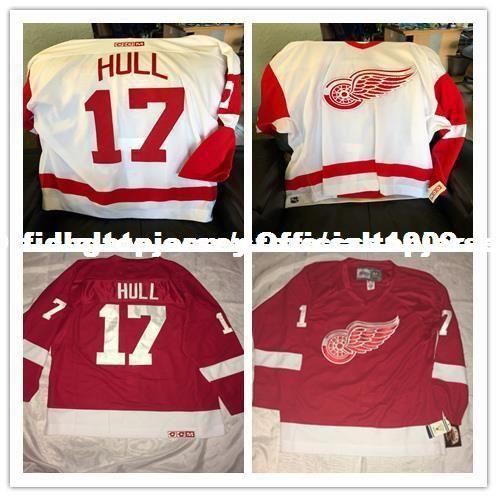 promo code 25995 70ef6 Cheap custom Brett Hull #17 Detroit Red Wings CCM Center Icr Hockey Jersey  Personalized customization Men s Retro ice Hockey jersey