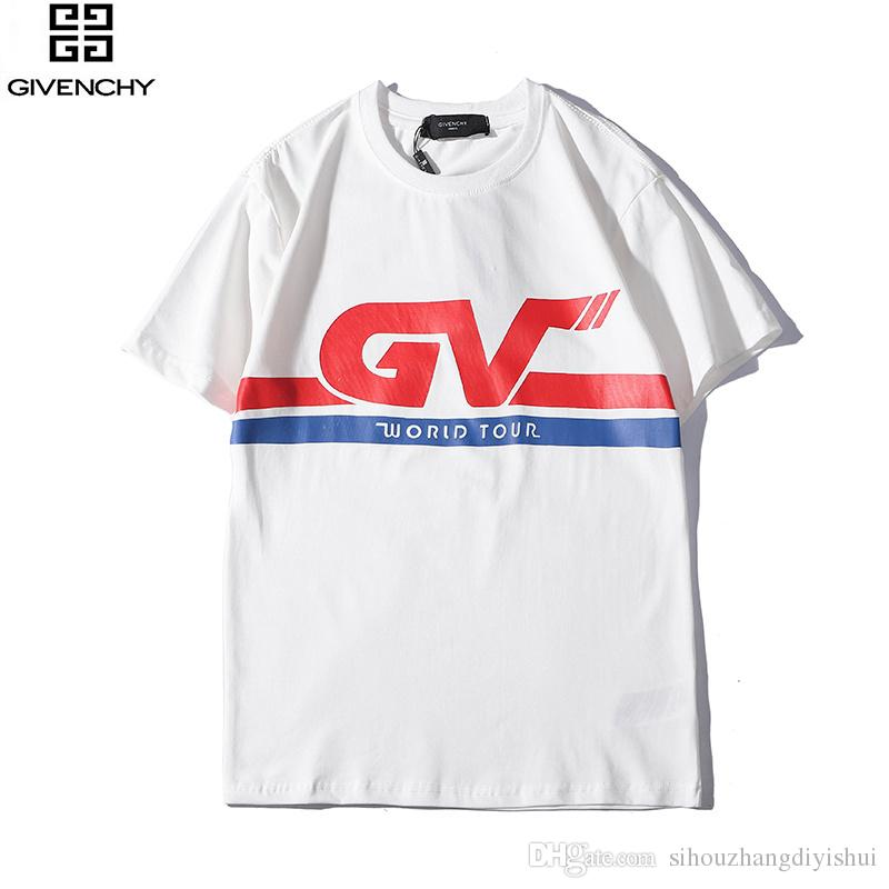 865a2ce5d New Big Name Letter Logo Bursting Old Micro Loss Printing Cotton Wild Short  Sleeved T Shirt Men And Women T Shirt Designers Business Shirt From ...