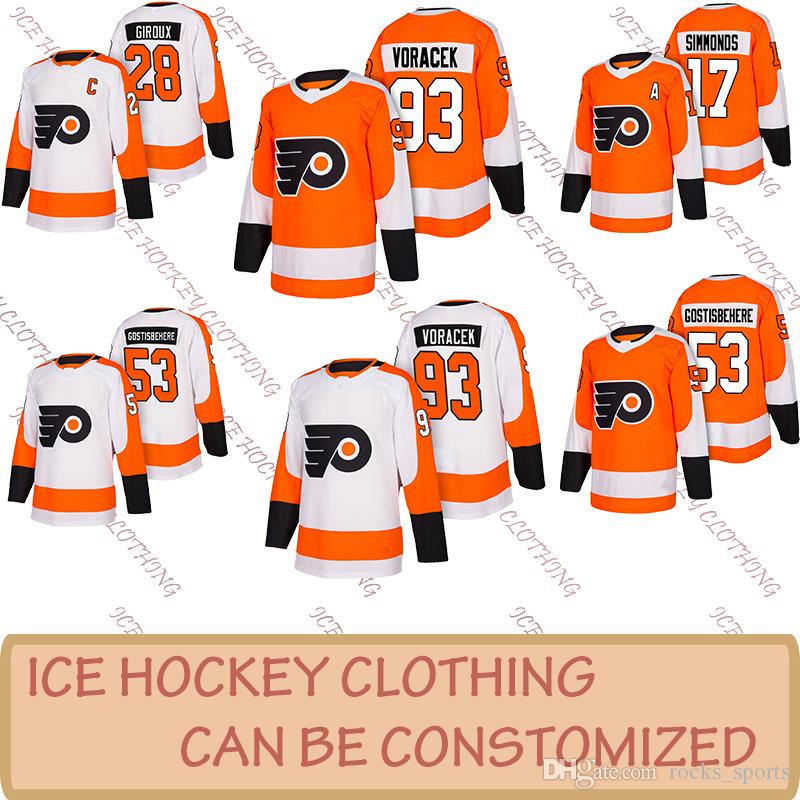 best website acbc3 b9626 Philadelphia Flyers embroidery cheap 17 Wayne Simmonds jersey 93 Jakub  Voracek 53 Shayne Gostisbehere 28 Claude Giroux sell