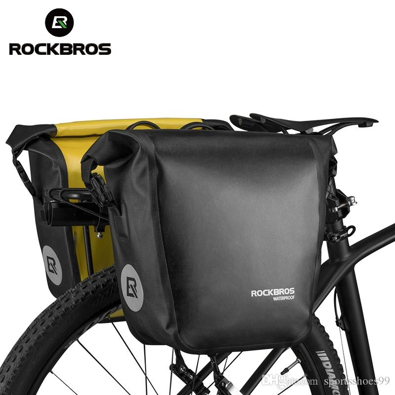 308c36aaa69 2019 ROCKBROS Bicycle Bag Rack Bolso Bicicleta 10 18L Cycling Rear Pannier  Bicycle Accessories Waterproof MTB Bike Saddle Bag #367434 From  Sportsshoes99, ...