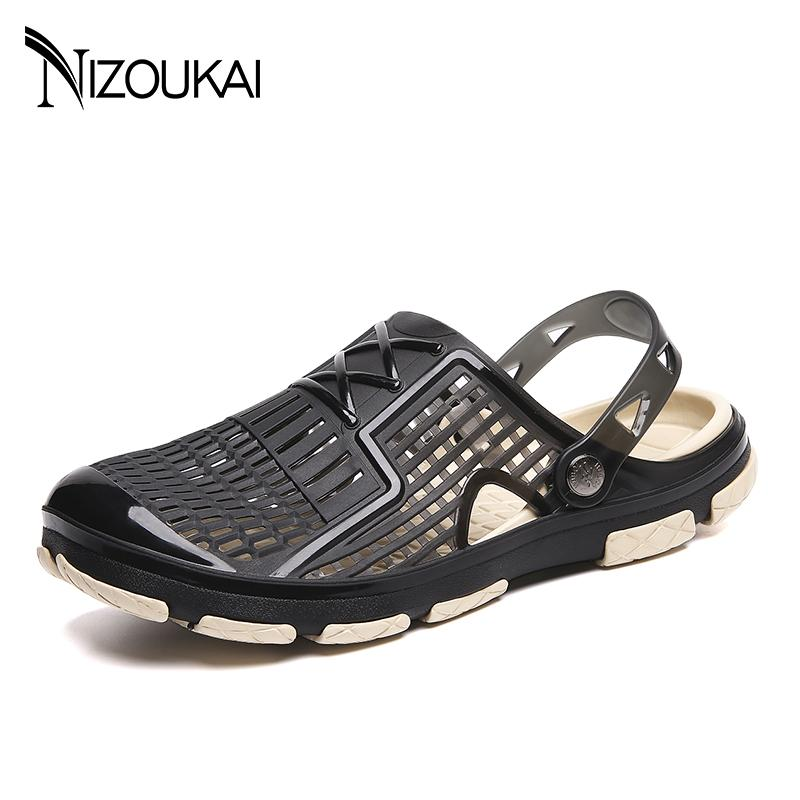 bee7cb0b2f1468 2019 New Men Sandals Summer Flip Flops Slippers Men Outdoor Beach Sandals  Cheap Male Water Shoes Sandalia Masculina Tall Gladiator Sandals Tan Wedges  From ...
