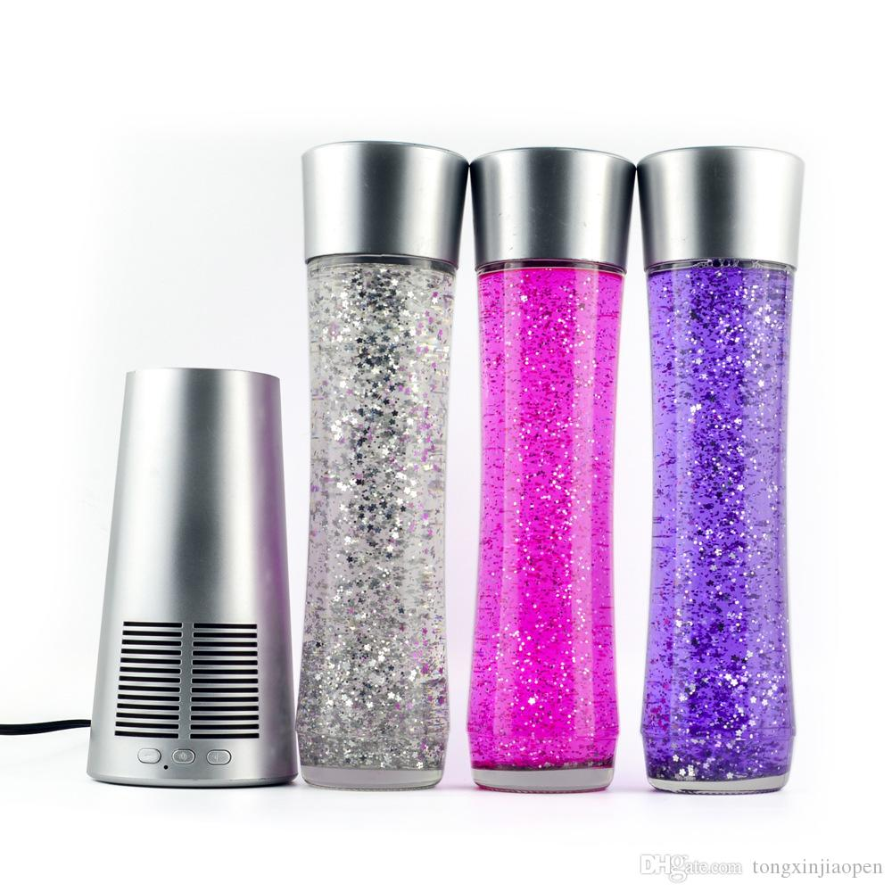 2019 new bluetooth speaker portable wireless music speaker, crystal music bottle speaker Motion Lamp Wireless Speaker