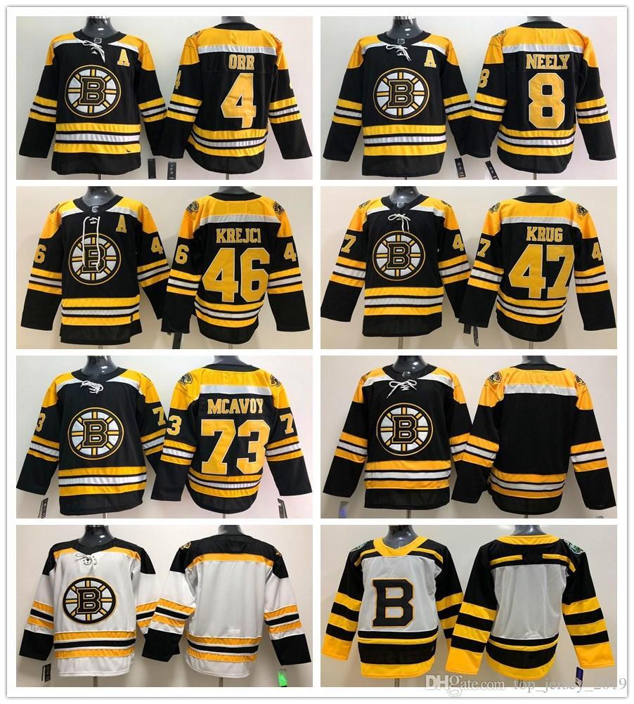 263ad3bd9 2019 2019 New Boston Bruins Hockey Jersey 4 Bobby Orr 8 Cam Neely 47 Torey  Krug 73 Charlie McAvoy 46 David Krejci Blank Jerseys From Top jersey 2019