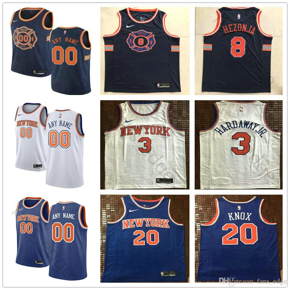 c2ede2869 2019 Printed Custom New York 00 Enes Kanter 23 Wesley Matthew 42 Lance  Thomas 8 Mario Hezonja 32 Noah Vonleh Luke Kornet Knicks Jersey From  Fans edge