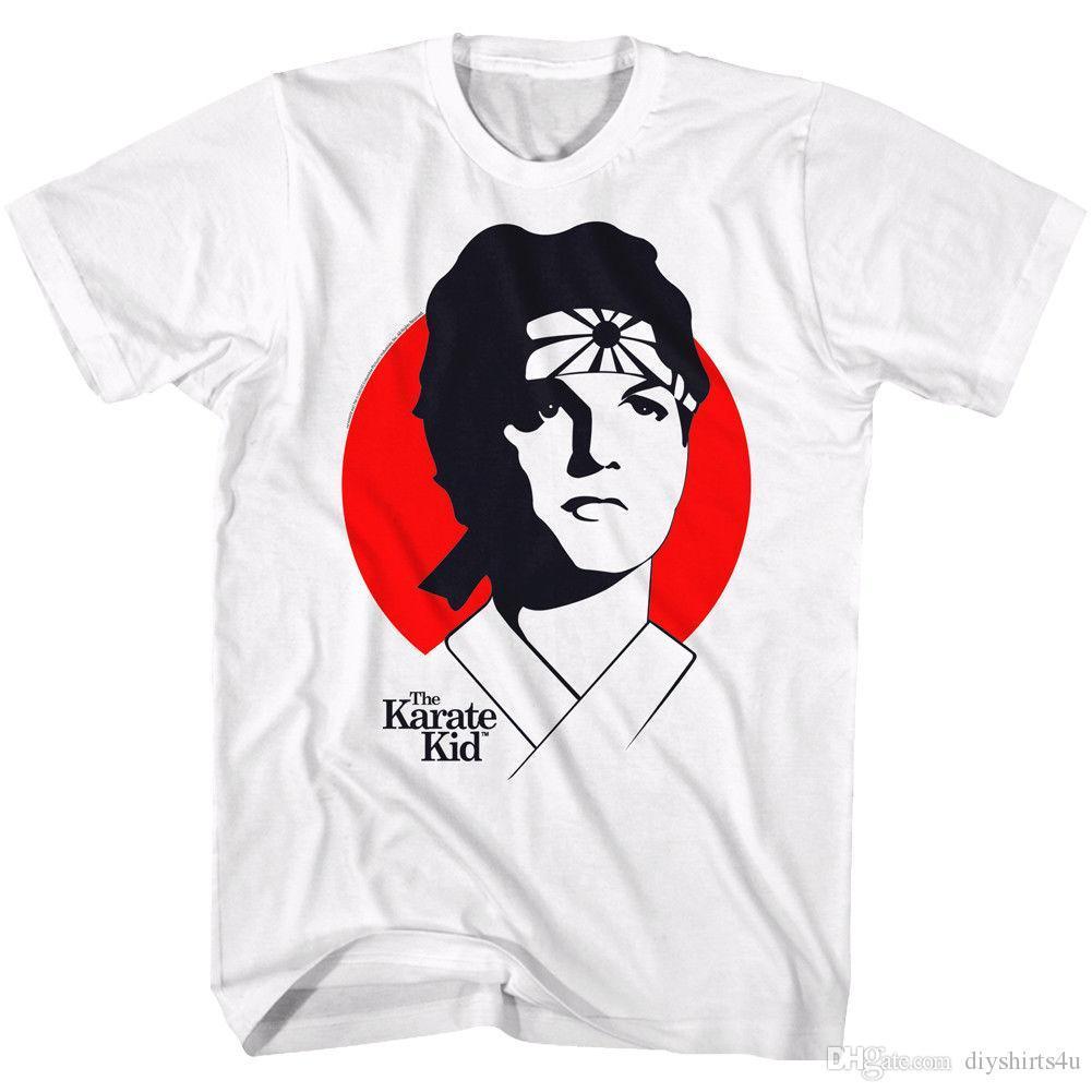 1fe06439 The Karate Kid T Shirt Red Circle Silhouette Portrait White Tee Tee Shirt  Men Male Screen Printing Short Sleeve Thanksgiving Day Custom Plus Vintage  Tees ...