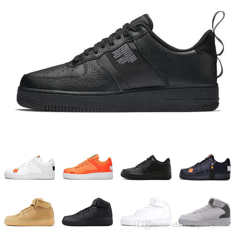 White Course Do Chaussures De Air Pour Af1 Just À Nike Lin Sport Utility Dunk Rouge 1 Force Pied Hommes Low Orange High It POXZiTku