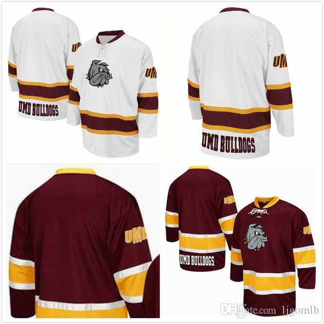 low priced ad0f5 386ec Billy Exell 16 Cole Koepke 17 Peter Krieger 25 Parker Mackay 39 Tanner  Laderoute 13 Jesse Jacques 18 Minnesota Duluth Bulldogs Jerseys S-3XL