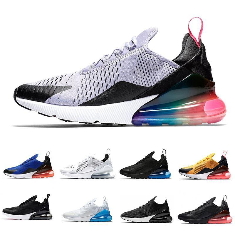 Nike Air Max 270 avec boîte 27C mens designer chaussures haute qualité mode luxe designer femmes chaussures Flair Triple Black Trainer air chaussures
