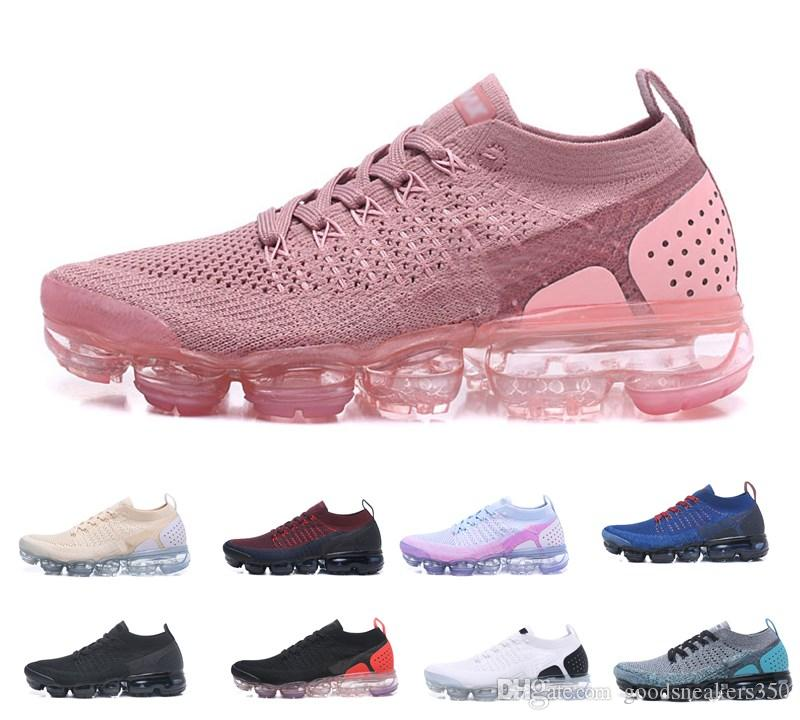 pretty nice 9df37 636fa Acquista 2019 Nike Air Max Vapormax Flyknit 2.0 Running Shoes Knit 2.0 Fly  1.0 Outdoor Scarpe Uomo Donna BHM Red Orbit Metallic Gold Triple Nero Max  Sneaker ...