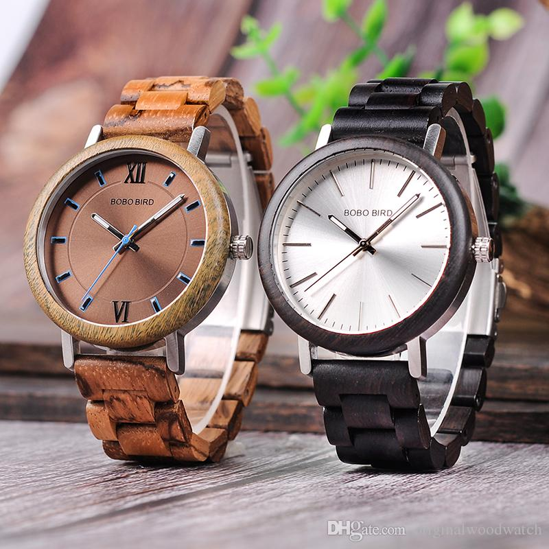 17bcc99e4900 Compre BOBO BIRD Hombres Mujeres Relojes De Madera Relogio Masculino Banda  De Madera Reloj De Pulsera De Cuarzo De Marca Superior Relojes Aceptar  Envío De ...