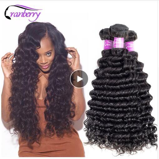 Black Pearl Pre-colored Deep Wave Brazilian Hair Bulk Braiding Hair Extensions 1 Bundle Remy Human Hair Bundles Braids Hair Deal Hair Weaves Human Hair Weaves