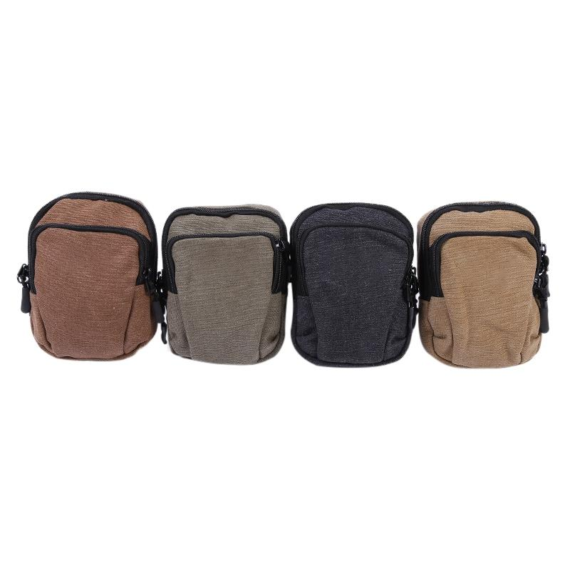 New Mobile Phone Pocket Wear-resistant Lightweight Mens Canvas Pocket Waterproof Outdoor Sports Pockets Multi-function Wallet Relojes Y Joyas