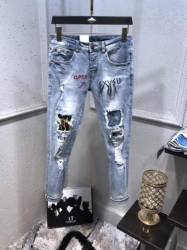 d8a09199 2019ss French Solid Classic Style Jeans Slim Fit Motorcycle Biker Denim For Men's  Fashion Designer European Version Jeans Quality Size 29-40 Online with ...