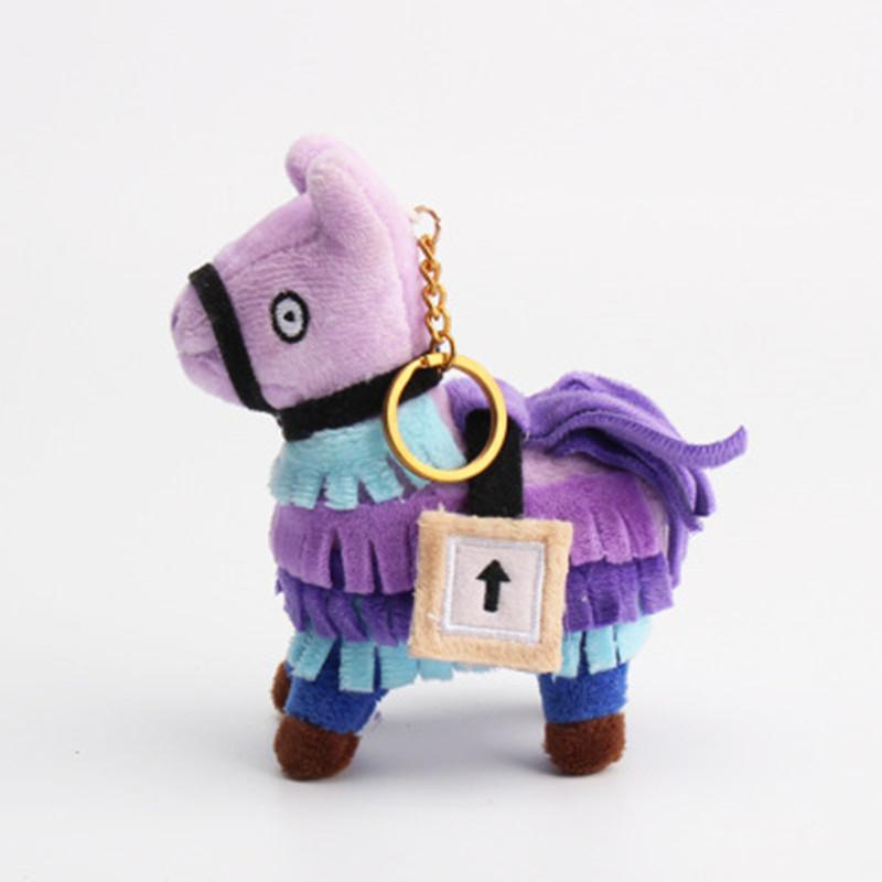 10CM Keychain Plush Dolls Stash Llama Figure Game Soft Stuffed Horse Animal Cartoon Toys Action Figure Toys Kids Gift Pendant