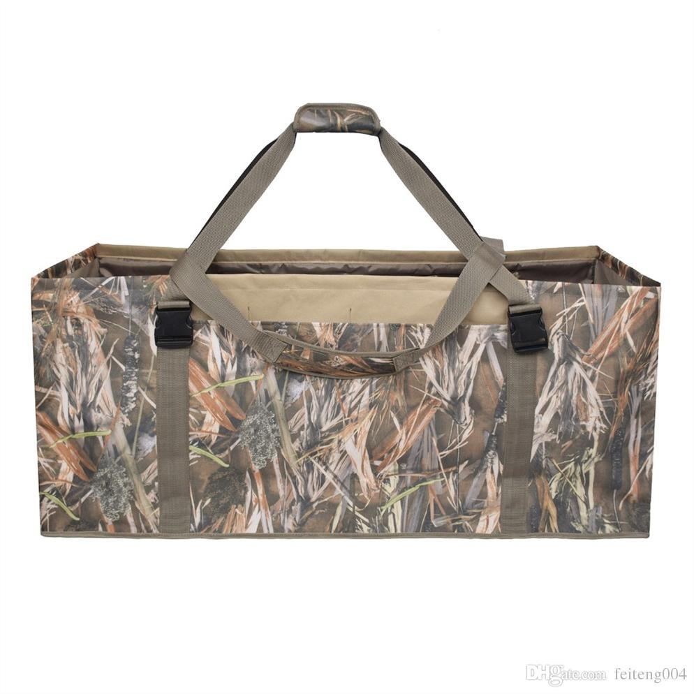 12 Slot Padded Duck Decoy Bag With Adjustable Strap Accessories Water & Dirt Drain System For Outdoor Hunting #351941