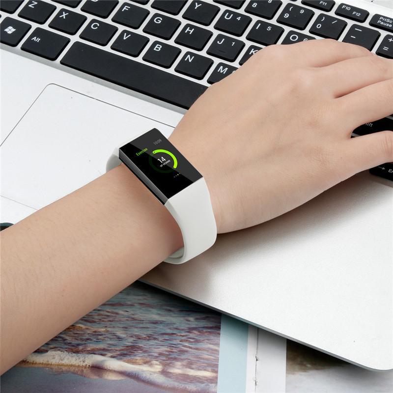 핏 비트 영감 HR 담당 3 2 반대로 삼성 갤럭시 시계 액티브 애플 시계 밴드 손목 스트랩의 경우 실리콘 스포츠 밴드 교체