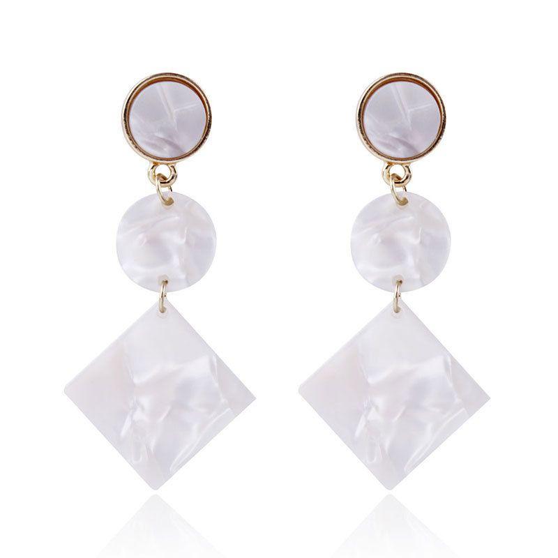2 Wind Retro Earrings Pagoda Autumn And Winter Geometry Diamond Earrings Acetic Acid Edition Board Fashion Minimalism Ear Nail