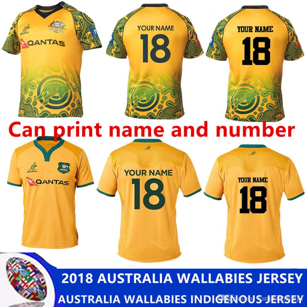 newest b6289 ae2bd 2018 AUSTRALIA WALLABIES JERSEY AUSTRALIA WALLABIES INDIGENOUS JERSEY  2018/2019 National Australia Rugby Jersey size S -3XL (Can print)
