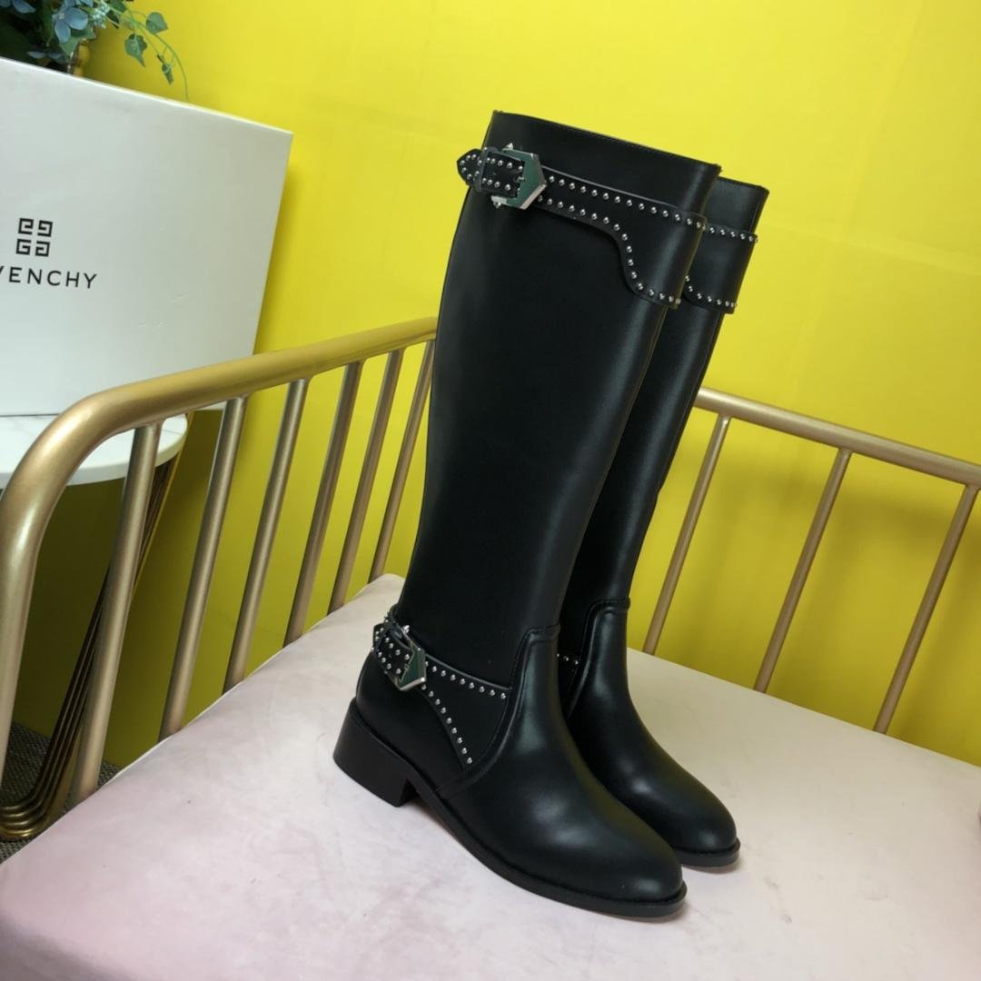 0e8fb49b4b8e New French Luxury Giv   Nchy Brand Women S Boots Set With Leather Button  Buckle Design With Original Box Packaging Black Knee High Boots Chukka  Boots Men ...