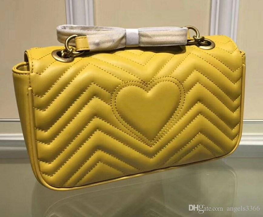 Free shipping yellow color women bag Handbags high quality Famous Brands Designer Genuine Leather Shoulder Bags Three size