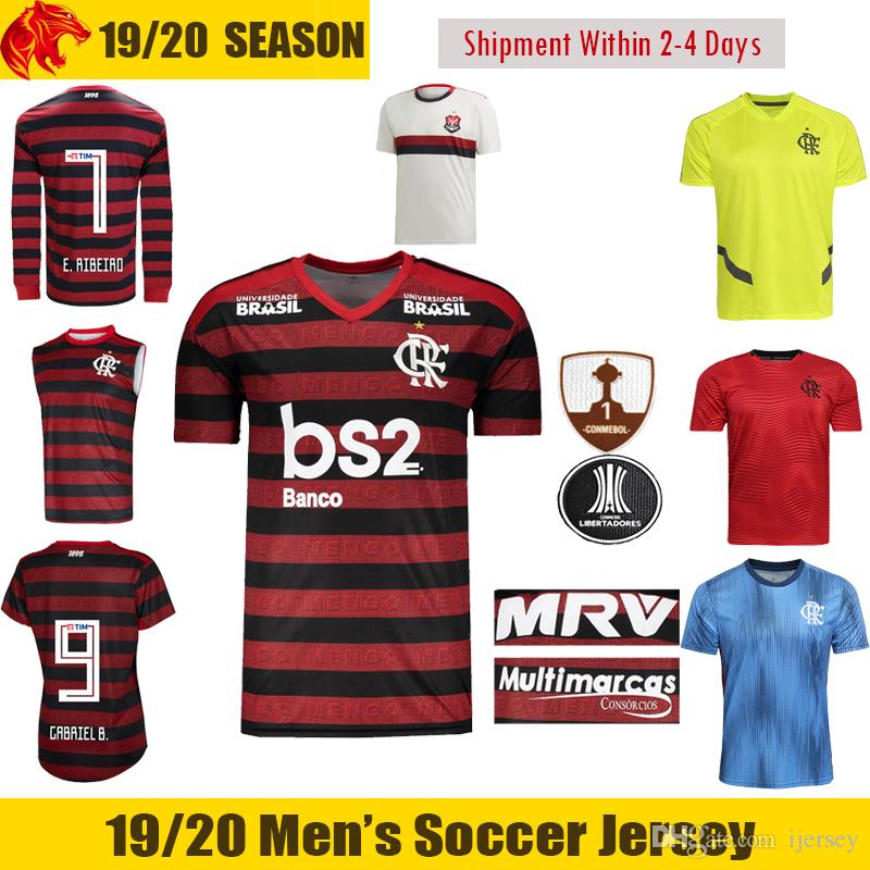 44fb67b7548 2019 19 20 Flamengo Soccer Jerseys B.HENRIQUE 2018 2019 E.RIBEIRO GABRIEL  B. Football Shirt DE ARRASCAETA VITINHO Flamengo DIEGO Long Jersey From  Ijersey
