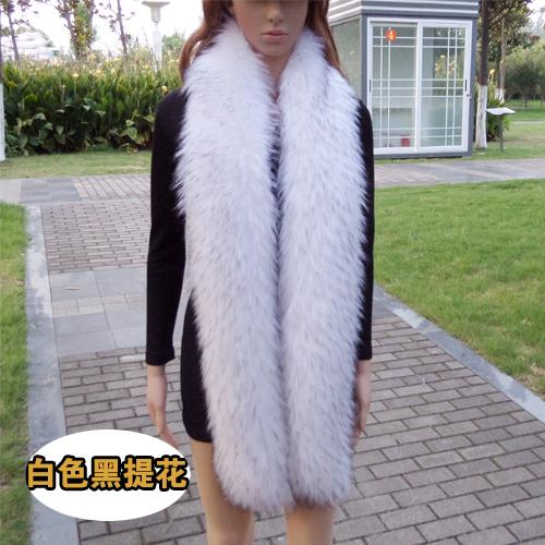 super long 185cm faux fox fur scarf eco-friendly manmade raccoon fur muffler winter women cosplay coat jacket warm fur scarf