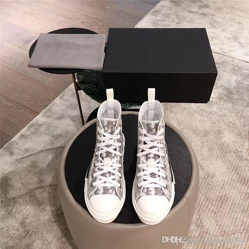 Herren B23 Qualität In High 35 Top Mit Schrägen Stiefel Designer Schuhe Box Womens Sneaker Turnschuhe Trainer Original Größe 44 6YI7bfgyvm