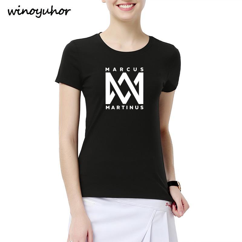 4bc39bdc Marcus And Martinus T Shirt Women Funny Graphic Printed T Shirts Cotton  Short Sleeve Tee Shirt Fitness Top Camiseta Femenina Cotton T Shirt Create  T Shirts ...