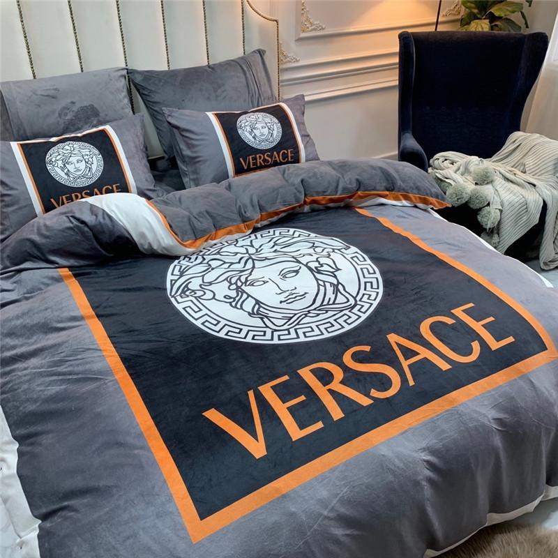 c212dead Letter Grey Bedding Cover Sets Goddess Autumn Winter Hotel Comforter Cover  Sets Comfort 4 Pieces Bedding Bag Suit