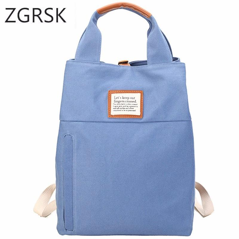 a4af0794a28 Casual Female College Backpack Classic Women School Bags For Teenage Canvas  Woman Campus Big And Fashion Zipper Bag Bagpack School Backpacks Cool  Backpacks ...
