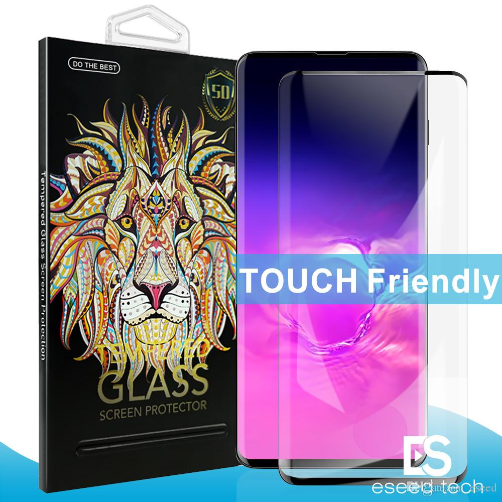 For S10 5G Version No Hole Glass Samsung Galaxy S10 e S9 S8 Plus S7edge 5D  Full Coverage fingerprint Unclock Tempered Glass Screen Protector